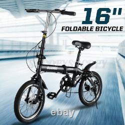 16 Ultra-lightweight High Carbon Steel Folding Riding Bike School Kids Bicycle