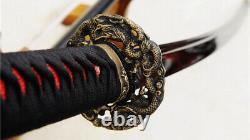 53 Folded Steel Nodachi Odachi Japanese Long Sword Reddish Black Blade Sharp