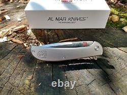 Al Mar Ultralight Hawk Folding Knife 2.75 D2 Tool Steel Blade Titanium Handle