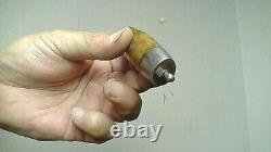 Antique 1874 Swedish Barrel Knife Wood/brass/iron Folding Flip Joh Engstrom Swed