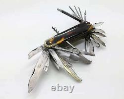 Antique 23+2 Blade Bohemian Franz Frenzel Fine Pocket Multiblade Folding Knife
