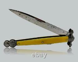Antique French Lock back Folding Dirk Dagger Knife Dague de Vertu