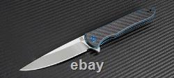 Artisan Cutlery Shark Folding Knife 4 S35VN Stainless Blade Carbon Fiber Handle