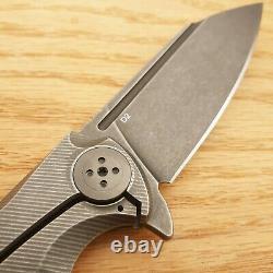 Bastinelli Creations Trigger Folding Knife 4 D2 Tool Steel Blade Titanium Handle