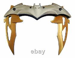 Batman Knife DUAL BLADES Aero Folding Blade Spring Assisted 11 Silver/Gold