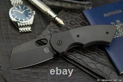 Berg Blades SLiM Folding Knife Black DLC Titanium & Carbon Fibre M390 Blade