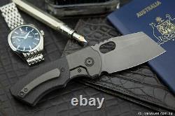 Berg Blades SLiM Folding Knife Stonewashed Titanium & Carbon Fibre M390 Blade