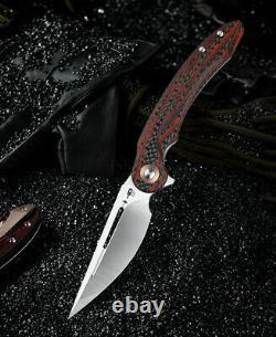Bestech Knives Irida Folding Knife 4.92 154CM Steel Blade Carbon F/G10 Handle