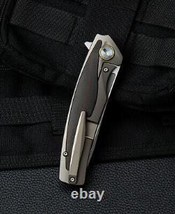 Bestech PREDATOR Folding Knife 3.5 S35VN Steel Blade Titanium/Carbon F Handle