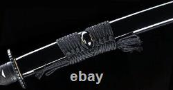 Black Folded 1045-carbon Steel Japanese Samurai Sword katana Full Tang Handmade