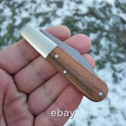Boker Barlow Folding Knife Carbon Steel Clip Point Blade Plumwood Handle 100700