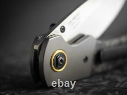Boker Plus Gulo Marble Folding Knife 3.31 D2 Tool Steel Blade Carbon F/Titanium