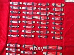 CASE XX CENTENNIAL MINT SET OF 99 KNIVES 1889-1989 With ORIGINAL FOLDING CASE