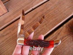 Case XX 6265 SAB Large Folding Hunter Knife Red Bone XX ERA 1940-1964 nice one