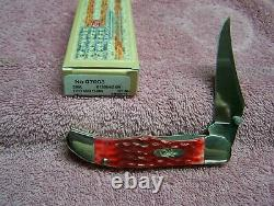 Case xx Kickstart Mid Folding Hunter Knife Red Bone CV Knives 07003 With Clip