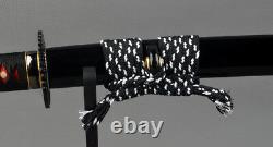 Clay tempered Folded Steel Japanese samurai sword Handmade Katana Free Shipping
