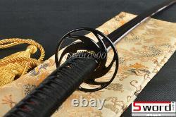 Damascus Folded Steel Japanese Samurai Katana Sword Bloody Red Blade Dragon Saya