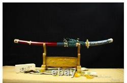 Folded Steel Clay Tempered Tachi Battle Ready Samurai Curved Katana Sword War
