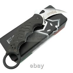 Fox Karambit Folding Knife 3 Stonewash N690 Steel Blade G10/Carbon Fiber Handle