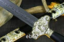 Handmade Chinese Kung Fu Sword Sharp 1060 Folded Carbon Steel Wushu Tai Chi Jian