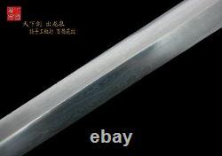 Handmade Chinese Sharp Fold Steel Blade Kung Fu Sword Jian Brass Handle Scabbard