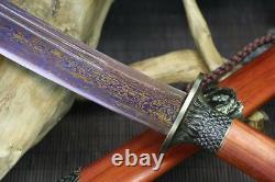 Handmade Chinese Wushu Short Sword Sharp Folded 1060 Carbon Steel Kung Fu Dao