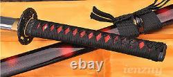 Handmade Japanese Samurai Katana Full Tang Sword Damascus Folded Steel Sharp