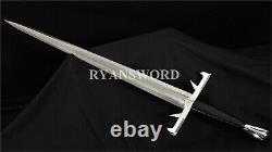 Handmade Sword of Immortals 1095 Folded Steel Iron Fittings Kurgan Sword