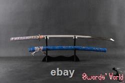 Japanese Clay Tempered Samurai Katana Sword Folded 1095 Carbon Steel blade