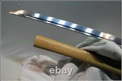 Japanese Ninja Shrine Sect Tang Samurai Sword Katana Folded Steel Blade #4212