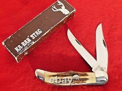 KA-BAR USA mint in box STAG Dog's Head folding hunter 1177 knife