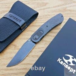 Kansept Knives Reverie Folding Knife 3 CPM-S35VN Steel Blade Carbon Fiber Handle