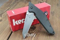 Kershaw Tilt Folding Knife with Carbon Fiber (4 Plain Blade) 4001