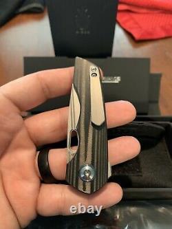 Kizer Cutlery Microlith Folding Knife 2.5 S35VN Steel Blade Carbon Fiber Handle