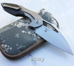 Kizer Megatherium Folding Knife 4 CPM S35VN Blade Titanium/Carbon Fiber Handle