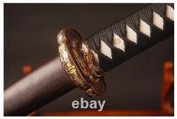 Kobuse Folded Clay Tempered Tachi Battle Ready Samurai Curved Katana Sword