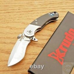 Krudo IOTA Folding Knife 2.5 9Cr18MoV Stainless Steel Blade Carbon Fiber Handle