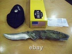 Limited Edition Buck Knife 415 Folding Kalinga Pro / Camo Handle Gem Mint New