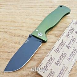 LionSTEEL Molletta Folding Knife 3.5 D2 Tool Steel Blade Green Aluminum Handle