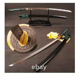 Modern Hand Forged Folded Carbon Steel Clay Tempered Sword Katana Battle Ready
