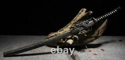 Modern War Kobuse Folded Carbon Steel Clay Tempered Sword O Katana Battle Ready