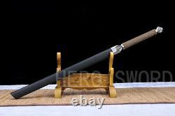 New Damascus Folded Steel Japanese samurai sword Katana Ninja Full Tang Sharp