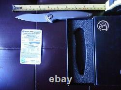 New Folding Knife By Cheburkov Russian Blade Cmp S60v Scales Titanium