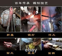 Nice Full Tang Mongolian Dao Machete Sharp Folded Steel Sword Cavalry Sign Sabre
