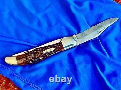 Nice Vintage CASE XX 6265SAB Red Bone Folding Hunter Pocket Knife