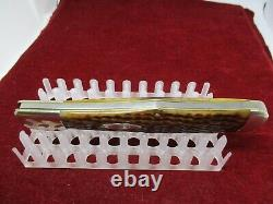 Old CASE XX Green Bone Folding Hunter Knife C61050SAB c. 1940's Full Blade