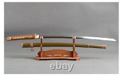 Replica WW2 WWII Japanese Officer Gunto Army Katana Sword Folded Clay Tempered