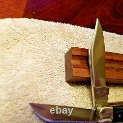 Schatt & Morgan Heritage Series Folding Knife Exotic Ebony Scales 3 Bld Mint