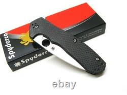 Spyderco C234CFP Carbon Fiber Amalgam Plain Edge S30V Steel Folding Pocket Knife