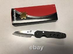 Spyderco C240CFP Smock Carbon Fiber Handle Withs30v Steel Blade Folding Knife